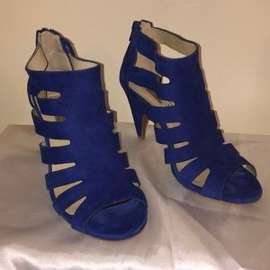 I.N.C. International concepts blue cage booties